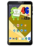 (CERTIFIED REFURBISHED) IKALL N4 (1GB+16GB) 7 Inch Android 6.0 (4G Volte+Wi-Fi) Calling Tablet,Black