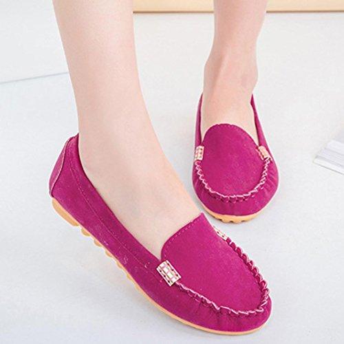 Longra Donna Scarpe comode scarpe comode scarpe nude (EU Size:36, Nero)