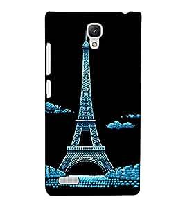 Fuson Designer Back Case Cover for Xiaomi Redmi Note :: Xiaomi Redmi Note 4G :: Xiaomi Redmi Note Prime (An Eifel Tower Paris)