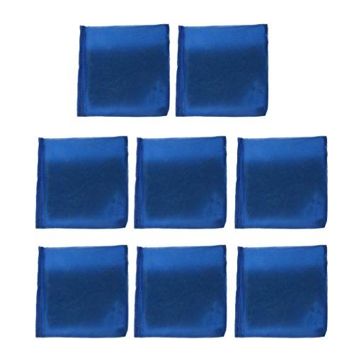 Sharplace 8 Stücke Werfen Mais Loch Spiel Cornhole Bag Sitzsack Mit Leinwand Abdeckung Und PVC Kunststoff Pellets Innen - Blau, 10 x 10 cm