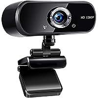 jojobnj Webcam PC con Microfono, USB 2.0 Webcamera 1080P Full HD, 360 Gradi Webcam per Video Chat e Registrazione…