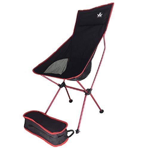 MXH Outdoor Ultraleichte Aluminiumlegierung Klappstuhl Tragbarer Raumaufstiegssessel Sessel,Red,55 * 43 * 100