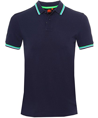 Sundek Herren Pique Polo-Shirt von brice Marine M (Pique Sport-shirt Stricken)
