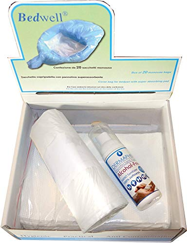 Bedwell Camping Bio Toilettenbeutel mit Superabsorber Gel Einlage PE20 und Dermaphex Desinfizierer
