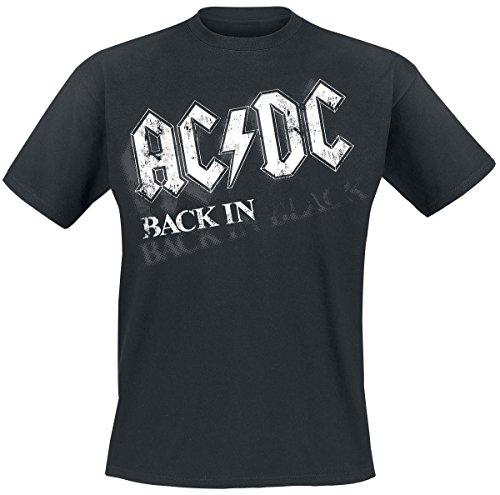AC/DC Back In Black - Bar Tab T-Shirt schwarz - Tabs Ac