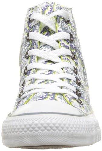 Converse Chuck Taylor All Star Snake Print Unisex-Erwachsene Sneaker Blanc (Blanc/Gris/Citronelle)