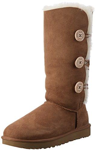 UGG Damen Bailey Button Triplet Schnee Stiefel, Braun (Chestnut), 41 EU