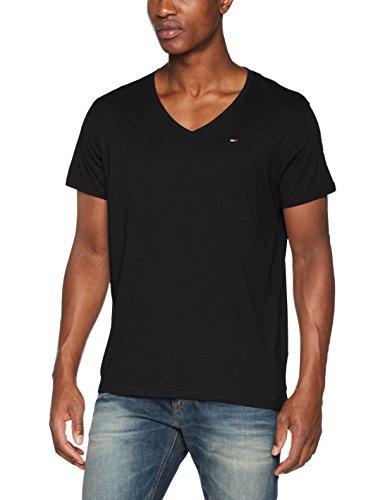 Tommy Jeans Herren T-Shirt Tjm Original Jersey V Neck Tee Schwarz (TOMMY Black 078)