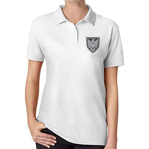 Shield Ladies Fashion Print Cotton Polo Shirt