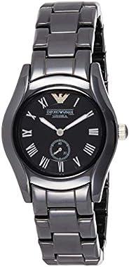 Emporio Armani Women's Ar1402 Black Ceramic Watch, Analog Dis