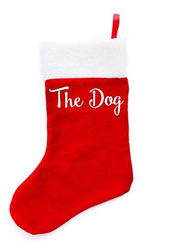 Boxer Gifts der Hund Weihnachts Strümpfe, Samt, mehrfarbig, 38x 16x 1cm (Strumpf Hund Weihnachten)