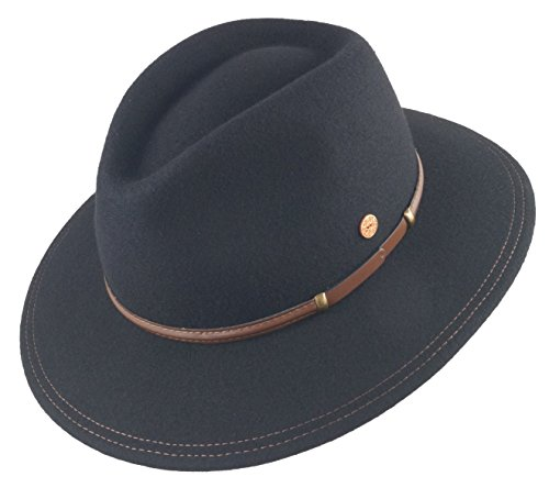 Mayser - Sombrero de vestir - para hombre negro L f8456f04736
