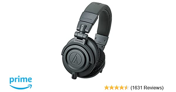 ca1d410e02f Audio-Technica ATH-M50X Studio Monitor Professional Headphones - Matte  Grey  Amazon.co.uk  Musical Instruments