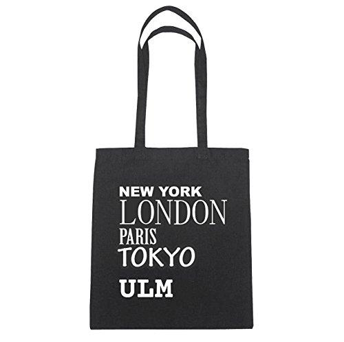 JOllify Ulm di cotone felpato B986 schwarz: New York, London, Paris, Tokyo schwarz: New York, London, Paris, Tokyo