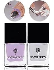 Born Pretty 10ml Nail Art Peel Off Latex Liquid Tape Polish Barrier Cuticle Guard Odor-free for Stamping Manicure 2 Bottles Set