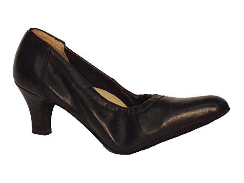 Sapatos Vitiello Dança Padrão Decolte, Senhoras Dançando Sapatos Nero Preto