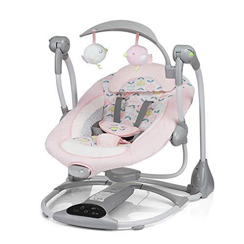 Baby elektrische Schaukelstuhl Lehnstuhl Baby schläfrig Baby Artefakt Schaukelstuhl Neugeborenen Wiege Cradle Bett (Farbe : Pink)