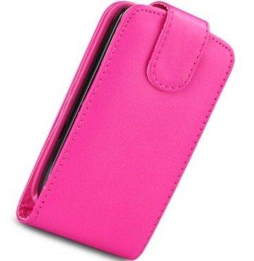 Mod Samsung GT-S7500Galaxy Ace Plus in pelle PU case custodia rosa + 2x protezione schermo