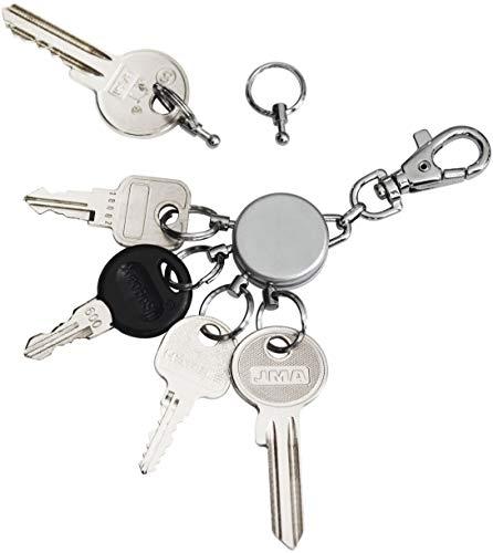 e geniale Schlüsselorganisation | Macht selbst den größten Schlüsselbund einfach zu handhaben | Schlüsselwechsel in Sekunden | Höchste Qualität & Sicherheit - Geschenkverpackung ()