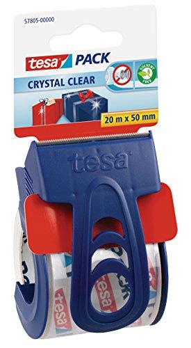 tesa Packband, kristall-klar mit Einweg-Handabroller -