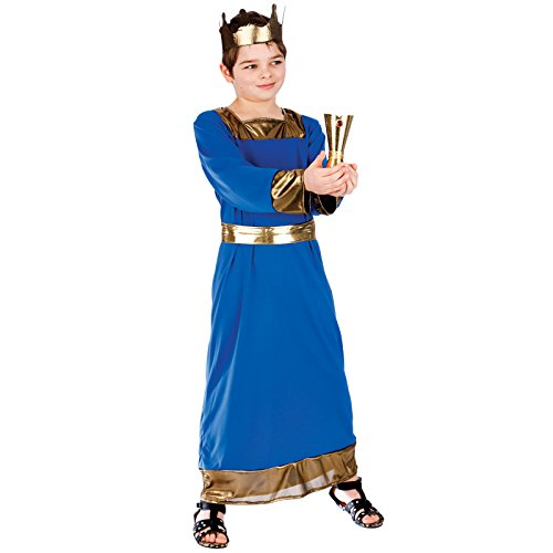 Blue Wise Man (Caspar) - Kids Costume 5 - 7 years