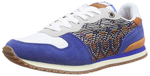 Pepe Jeans Gable Ethnic, Baskets Basses femme Bleu - Blau (550KLEIN)
