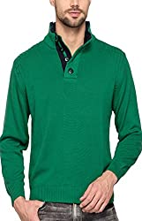 Spykar Mens Green Regular Fit Mid Rise Sweatshirts (XX-Large)