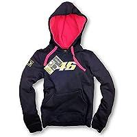 MotoGP Valentino Rossi sudor camiseta sudadera con capucha mujer marina Talla:large