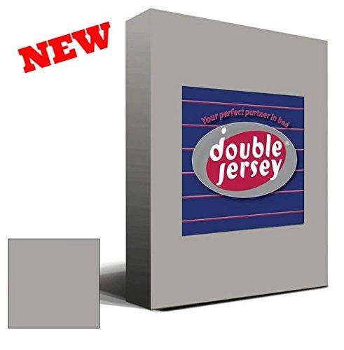 Double Jersey - Spannbettlaken 100% Baumwolle Jersey-Stretch bettlaken, Ultra Weich und Bügelfrei mit bis zu 30cm Stehghöhe, 160x200x30 Silber Grau - 2