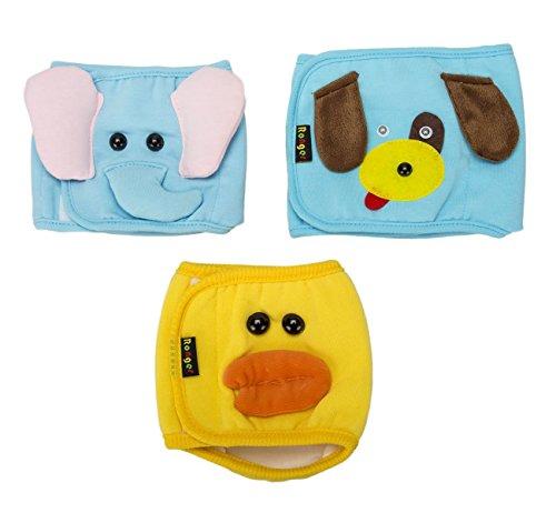 Dog Wonder Kostüm (Dogs Kingdom 3Fashion Lovely Dog, Bauchband Puppy Windel waschbar wiederverwendbar für kleine Stecker Dog Pants Windeln mit Elefant Ente)
