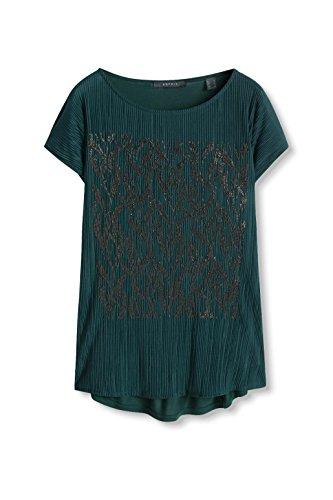 ESPRIT Collection Damen T-Shirt Grün (bottle Green 385)