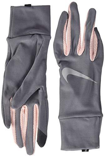Nike Damen Womens Lightweight Tech Running Gloves 070 Gunsmoke/Storm pink/s Handschuhe, S