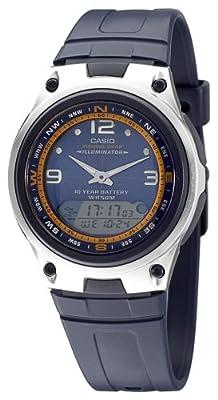 Casio AW-82-2AVES - Reloj analógico - digital de caballero de cuarzo con correa de resina negra (cronómetro, alarma, luz) - sumergible a 50 metros