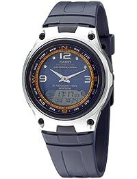 Casio AW-82-2AVES - Reloj analógico - digital de caballero de cuarzo con correa de resina negra (cronómetro, alarma,…