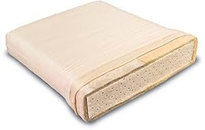 Matelas bio Solana latex naturel avec de la laine de mouton pur pour les enfants et les adolescents, Matratzenmaße:90 x 200 cm