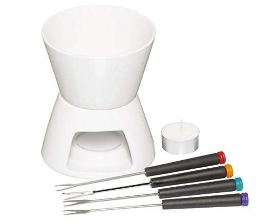 Kitchen Craft Set fonduta al cioccolato con quattro forchette