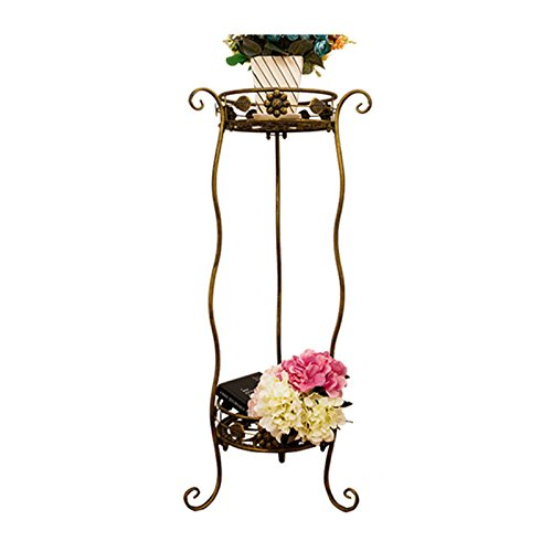 Eisen Blumenregal europäischen Stil Wohnzimmer Balkon Boden Blume Stand ( größe : Black large )