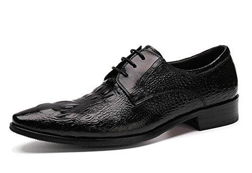 SHIXR Männer Oxford Brogue Neue Business Suits Schuhe Herren Schuhe Krokodil Pattern Authentic Spitz Schuhe Black