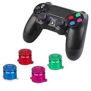 Sony Playstation 4 Dualshock 4 Controller Tasten Analogsticks Thumbsticks Joystick Aluminium Buttons Richtungstasten D-Pad Steuerkreuz Metall Kugel Bauteile Ersatzteile Zubeh?r für PS4