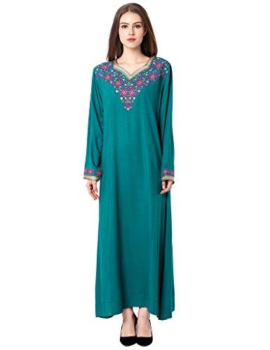 Muslim Abaya Dubai kleider für Frauen islamischen Kleid Islamische Kleidung muslimische Kaftan Rayon Gewand Jalabiya 1626