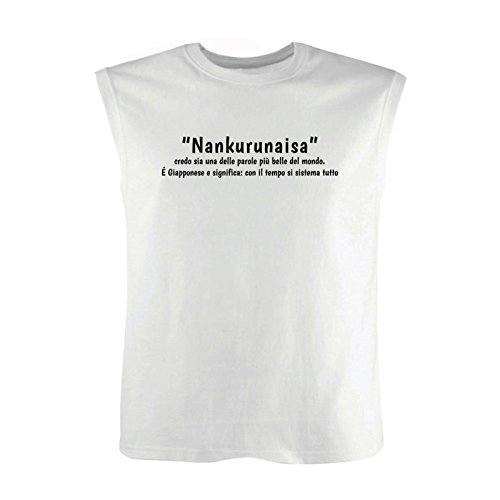 Art T-shirt Herren Top Bianco