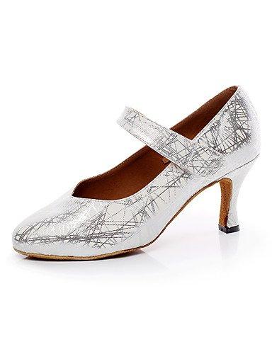 La mode moderne femmes Sandales Chaussures de danse en similicuir similicuir Salsa Latino / sandales talon / Intérieur Professionnel US9 / EU40 / UK7 / CN41