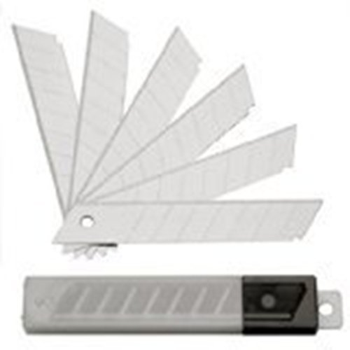 SBS Abbrechklingen | 200 Stück | 18mm breit | 0,5mm stark | Cutterklingen (1/2-teppich)
