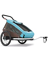 2016 Croozer Kid Plus for 2 - 3 in 1 Two Child Trailer Sky Blue / Brown by Croozer