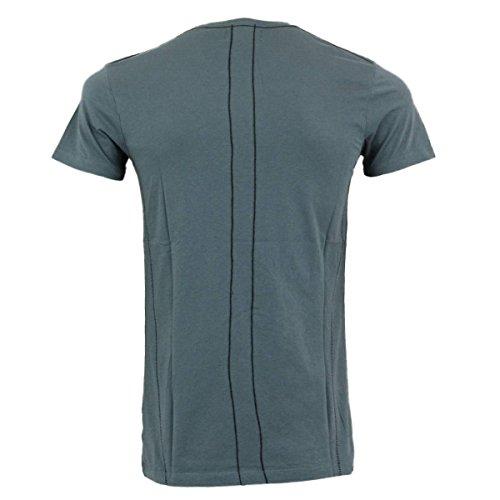 Religion T-Shirt Herren No Faith NFF 02 blaugrau - figurbetont Blaugrau
