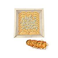 "YaYa Cafeâ""¢ Holi Sweets Gift Pack Kesar Gujiya Gift Hampers Holi Festival of Colors Engraved Wooden Gift Box -Kesar Gujiya - 500 gm"