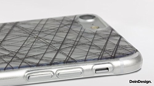 Apple iPhone 8 Slim Case Silikon Hülle Schutzhülle Rost Look Struktur Silikon Slim Case transparent