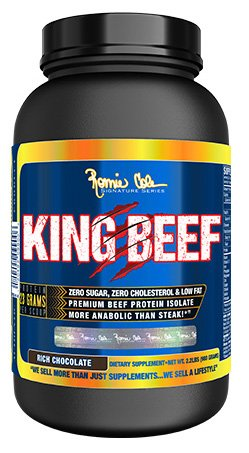 RCSS King Beef Protein Eiweiß 100% Beefprotein Isolate Proteinshake Laktosefrei Bodybuilding 908g (Chocolate - Schokolade) -