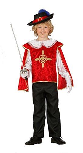 Für Frankreich Kostüm Jungen - Edler Musketeer - Kostüm für Kinder Gr. 98 - 134, Größe:128/134