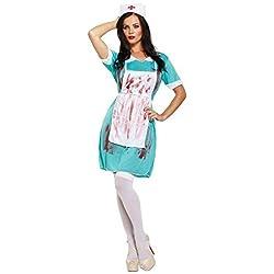 Disfraz Enfermera Zombie LADIES ZOMBIE NURSE BLOODY Halloween Carnaval COSTUME THE WALKING DEAD CHEAP 00337